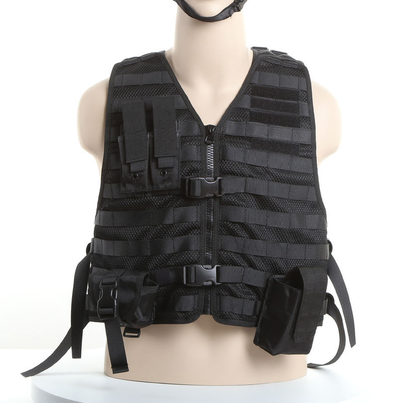 Molle System Police Safety Equipment Swat Tactical Vest With Flexible Pouches
